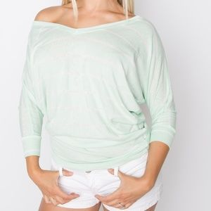 Amelia James Mint Dolman Top